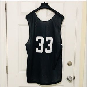 Black Breathable Basketball Tank #33 size 2X